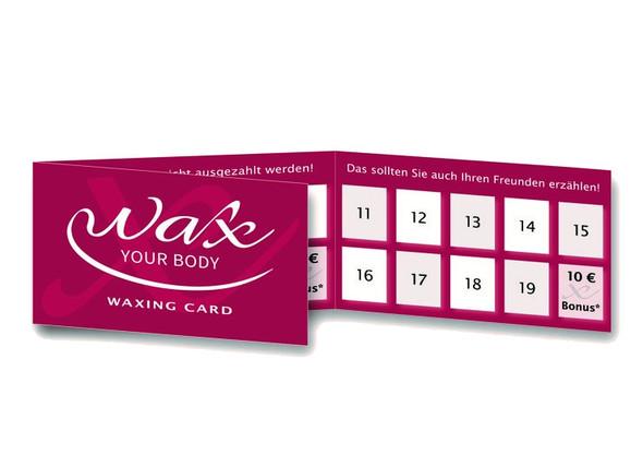 Wax-Your-Body-Klappkarte
